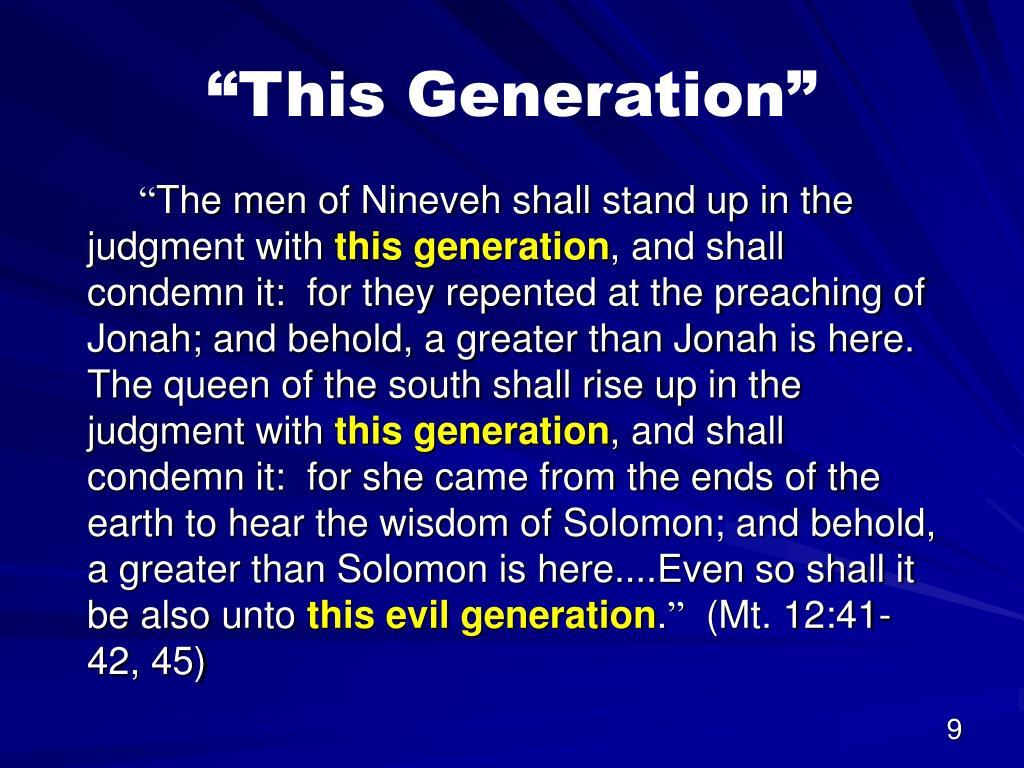 """This Generation"""