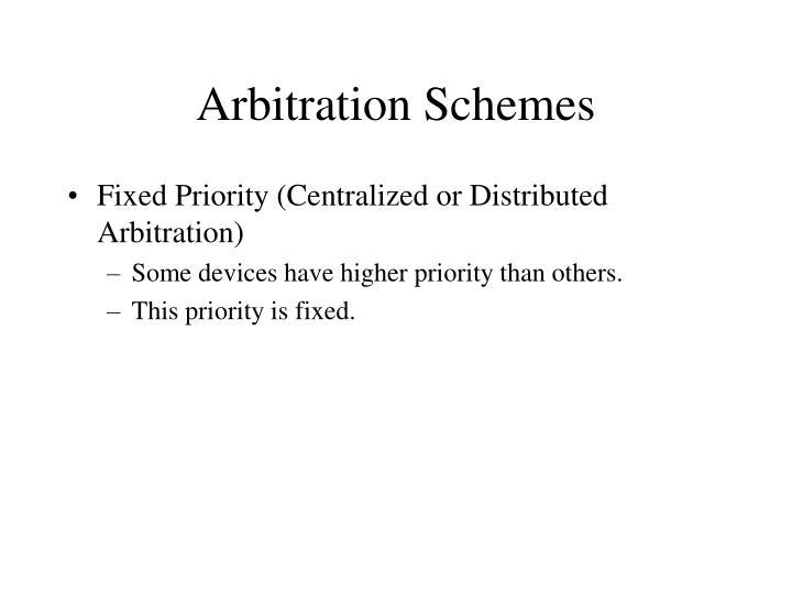 Arbitration Schemes