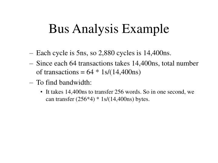 Bus Analysis Example