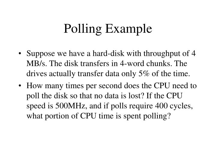 Polling Example
