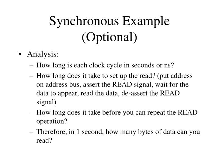 Synchronous Example