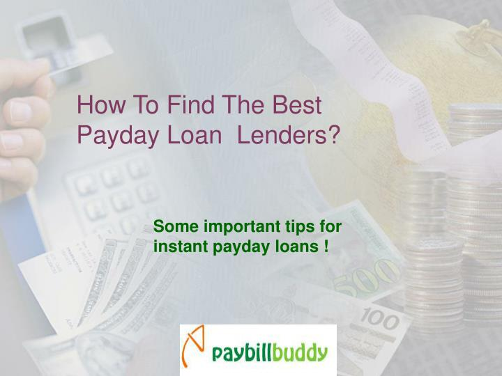How to find the best payday loan lenders