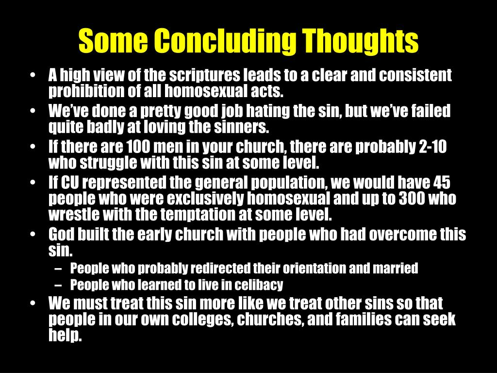 Some Concluding Thoughts