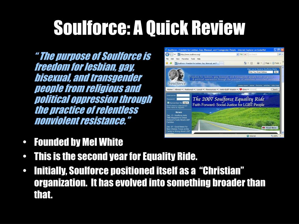 Soulforce: A Quick Review