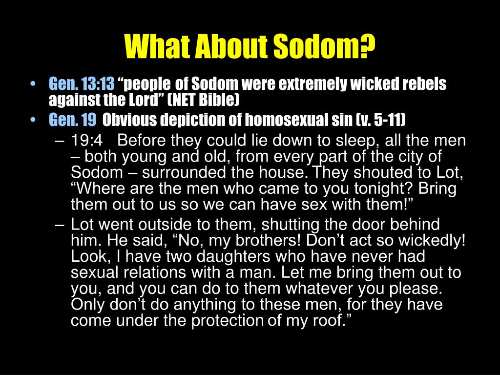 What About Sodom?