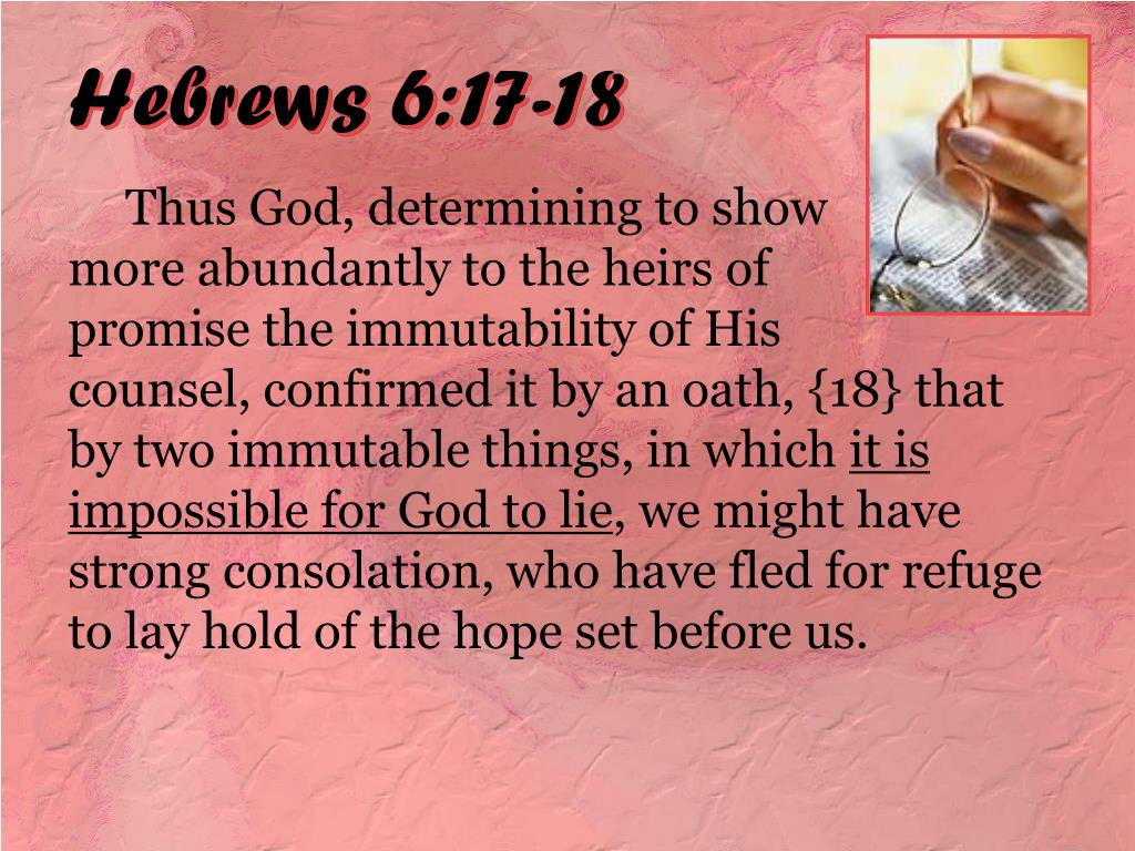 Hebrews 6:17-18