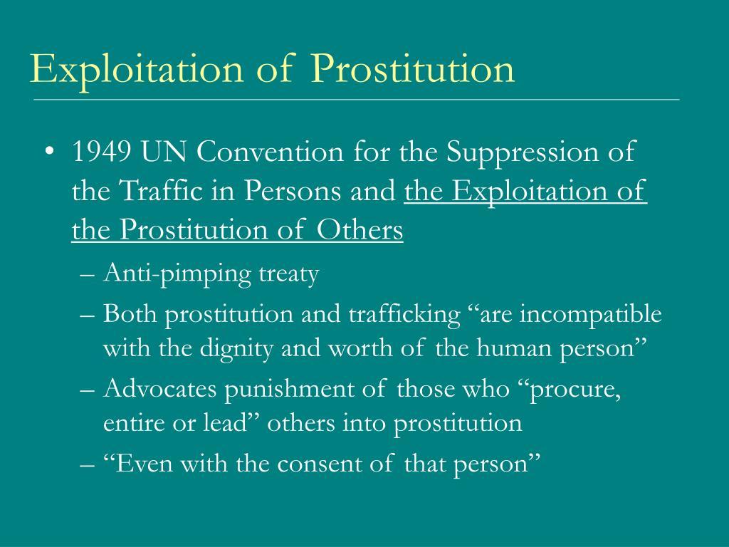 Exploitation of Prostitution