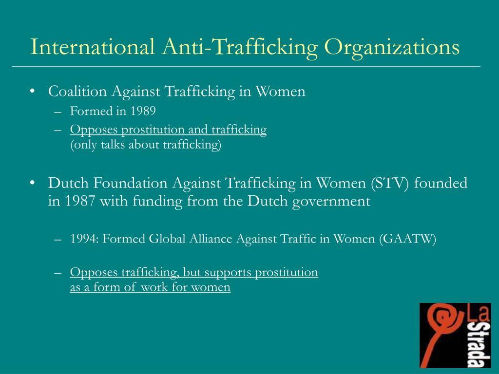 International Anti-Trafficking Organizations
