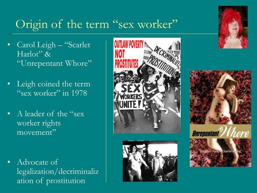 """Origin of the term """"sex worker"""""""
