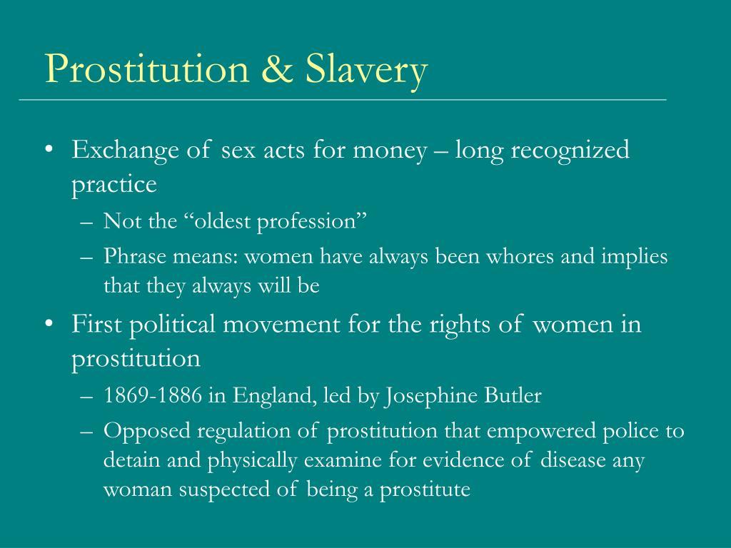 Prostitution & Slavery