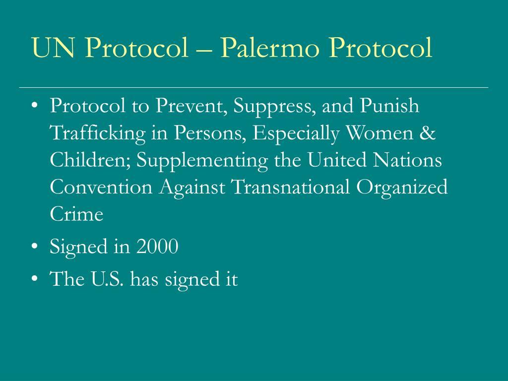 UN Protocol – Palermo Protocol