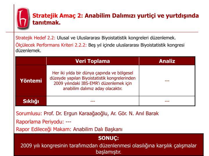 Stratejik Hedef 2.2: