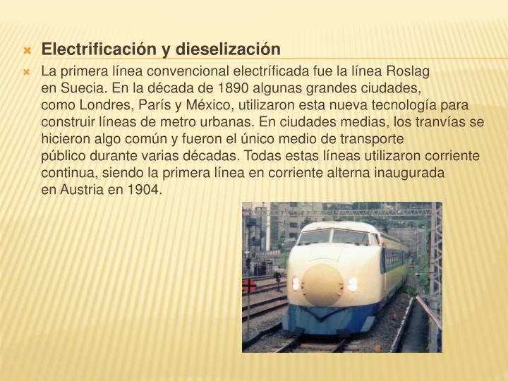 Electrificación y