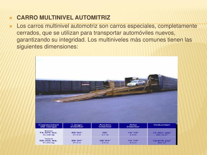CARRO MULTINIVEL