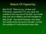 nature of hypocrisy1