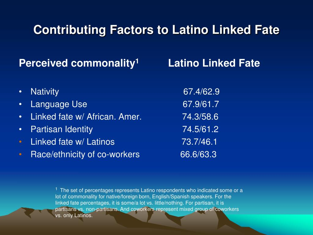 Contributing Factors to Latino Linked Fate