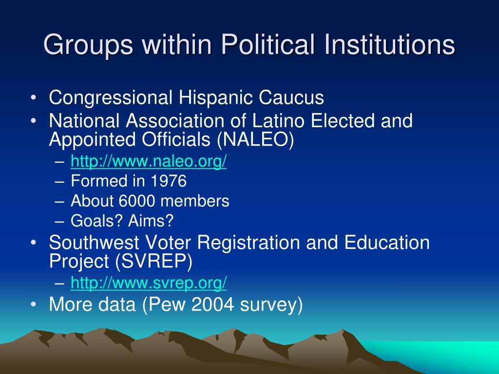Groups within Political Institutions