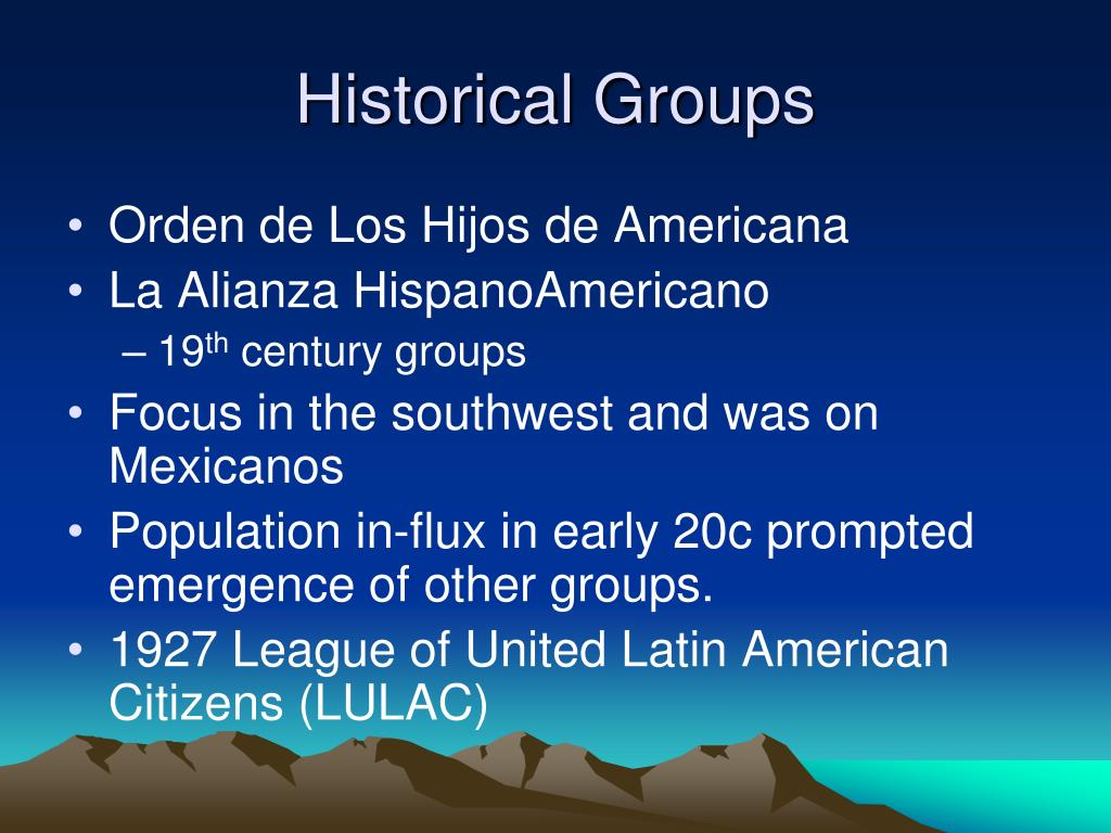 Historical Groups
