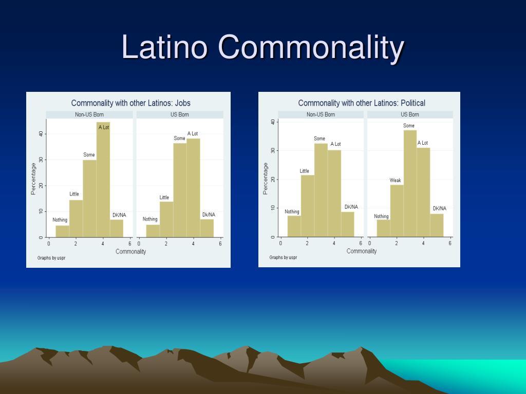 Latino Commonality