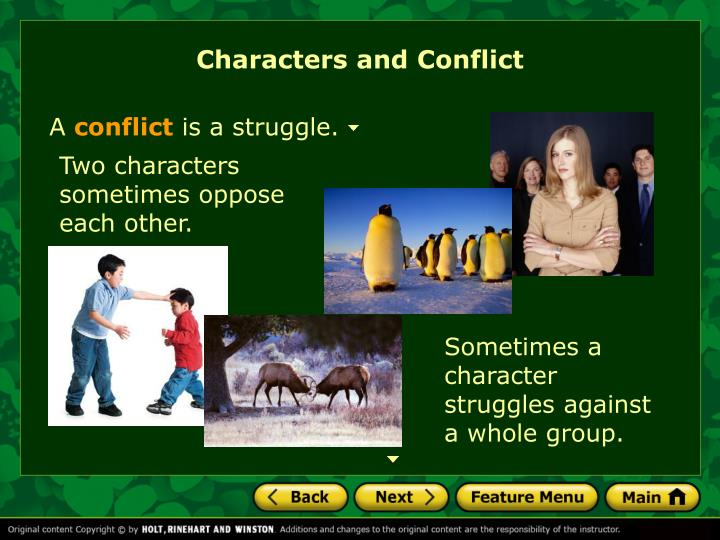 Characters and Conflict