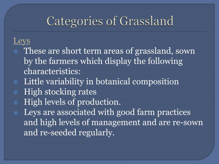 Categories of Grassland