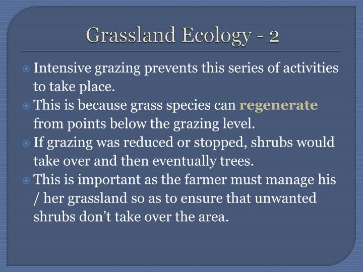 Grassland Ecology - 2