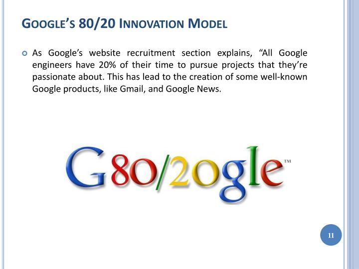 Google's 80/20 Innovation Model