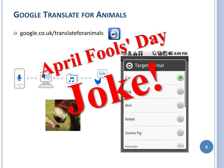 Google Translate for Animals