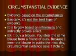 circumstanstial evidence