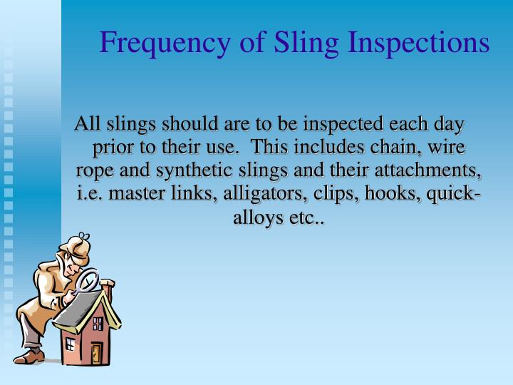 Frequency of Sling Inspections