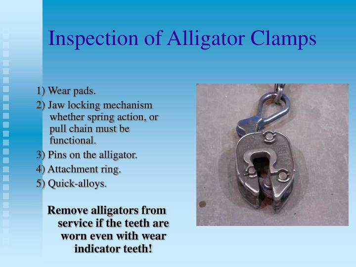 Inspection of Alligator Clamps
