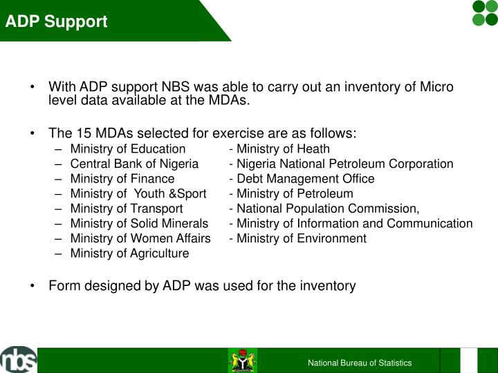 ADP Support