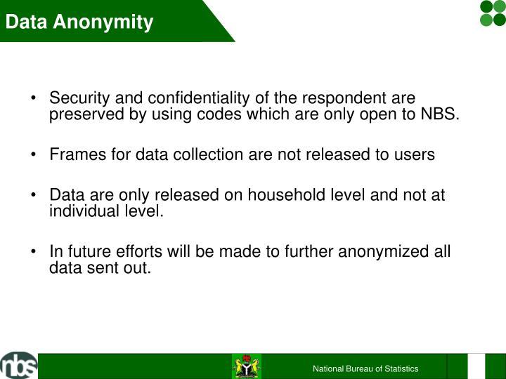 Data Anonymity