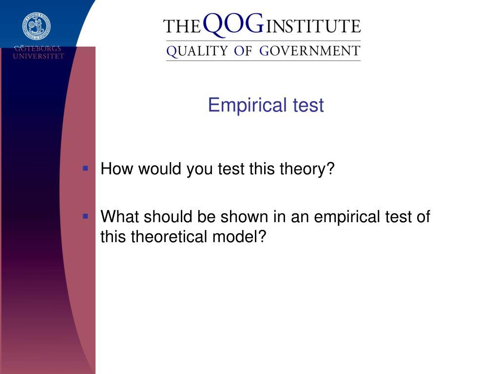 Empirical test