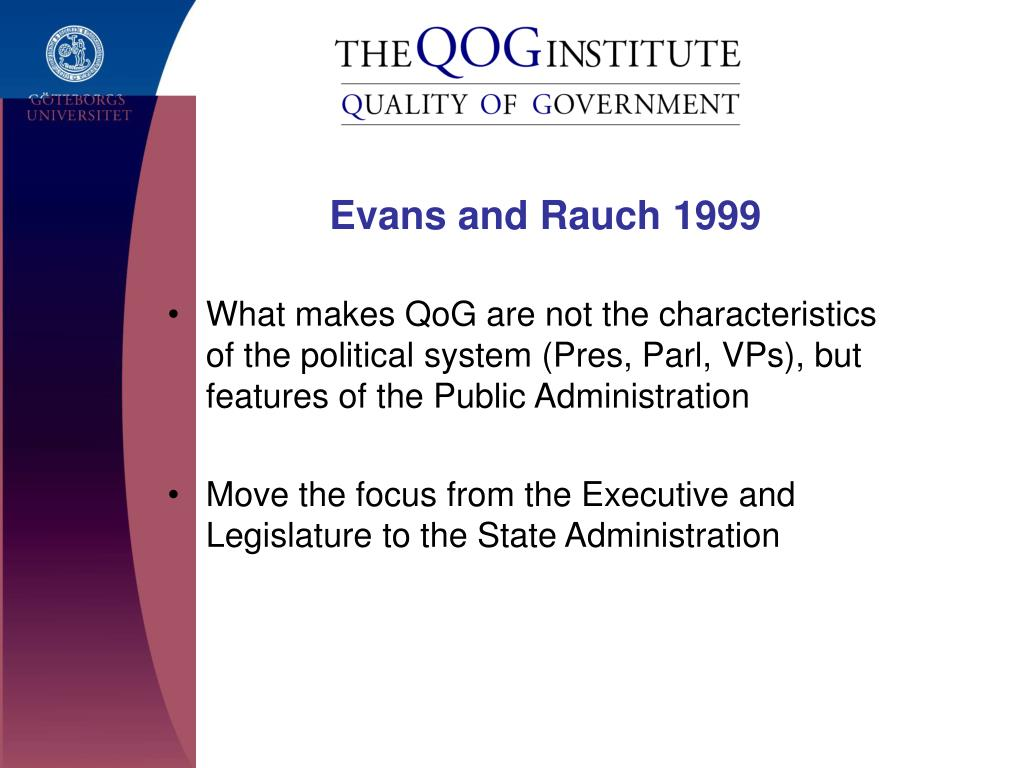 Evans and Rauch 1999