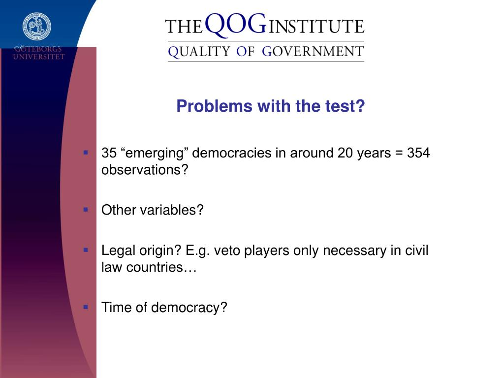 Problems with the test?