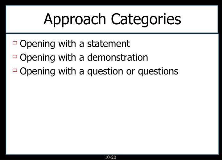 Approach Categories
