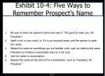 exhibit 10 4 five ways to remember prospect s name