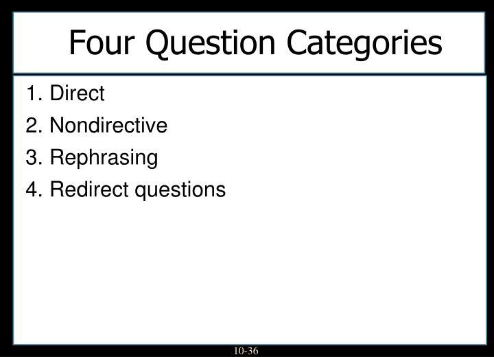 Four Question Categories