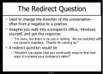 the redirect question