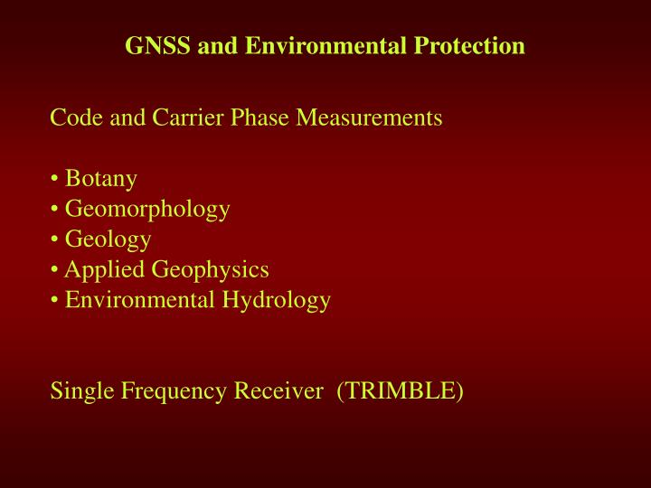 G ns s and environmental protection