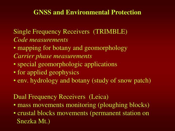 G ns s and environmental protection1