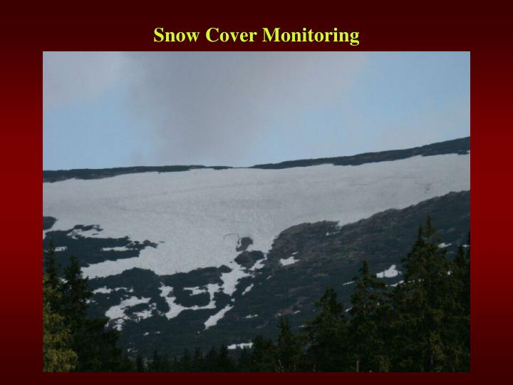 Snow Cover Monitoring