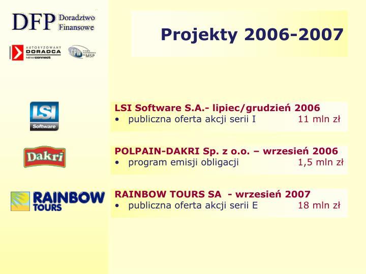 Projekty 2006-2007