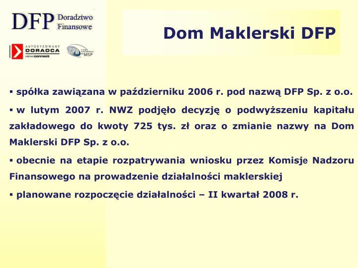 Dom Maklerski DFP