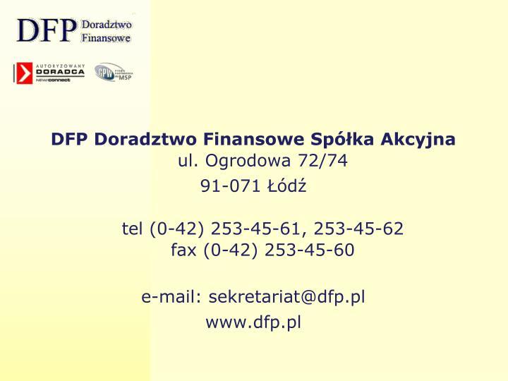 DFP Doradztwo Finansowe Spółka Akcyjna