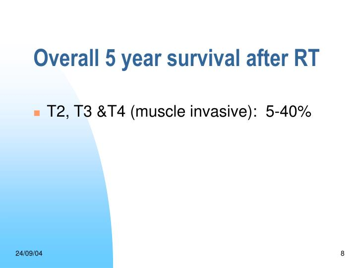 Overall 5 year survival after RT