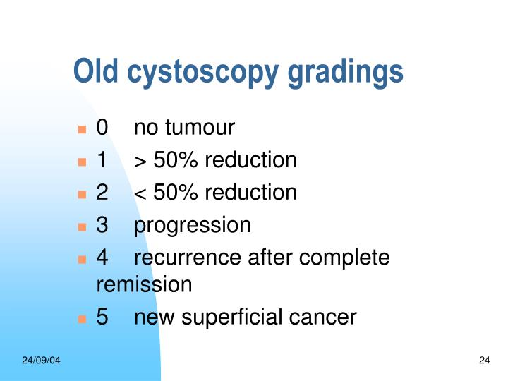 Old cystoscopy gradings