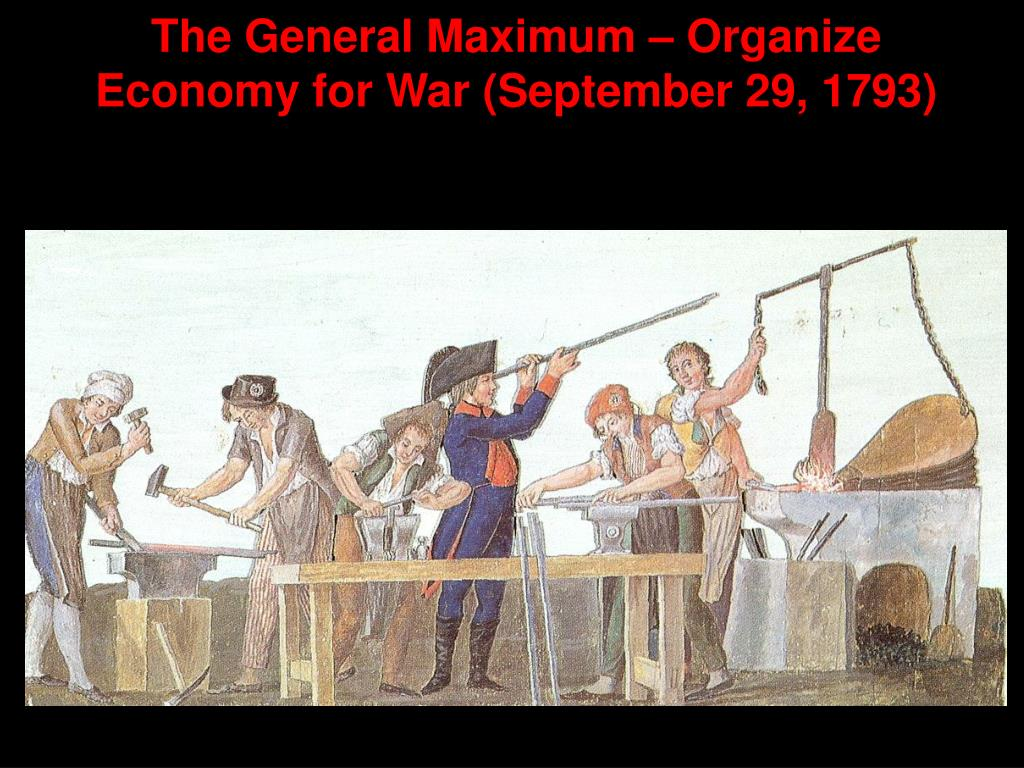The General Maximum – Organize Economy for War (September 29, 1793)