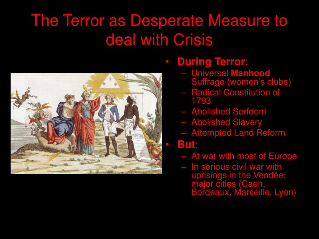 The Terror as Desperate Measure to deal with Crisis